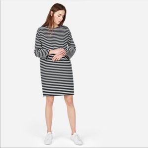 Everlane Black & White Striped Breton Dress Sz S